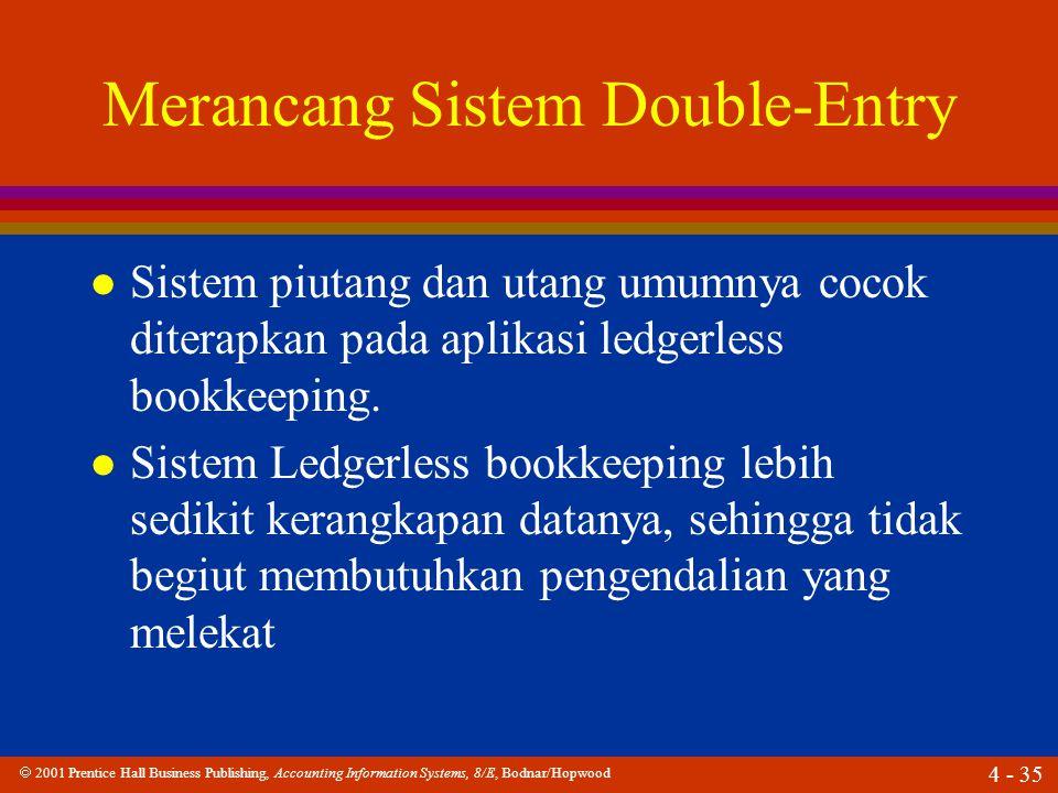 Merancang Sistem Double-Entry