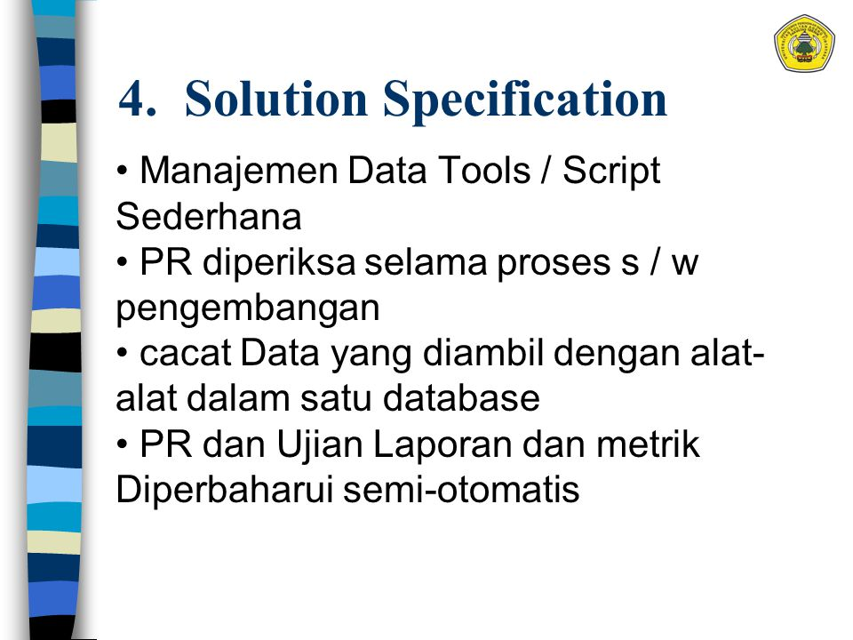 4. Solution Specification