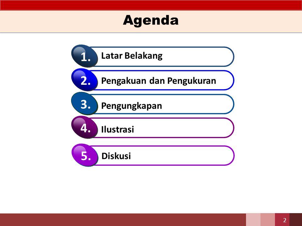Agenda 1. 2. 3. 4. 5. Latar Belakang Pengakuan dan Pengukuran