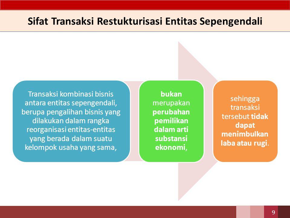 Sifat Transaksi Restukturisasi Entitas Sepengendali