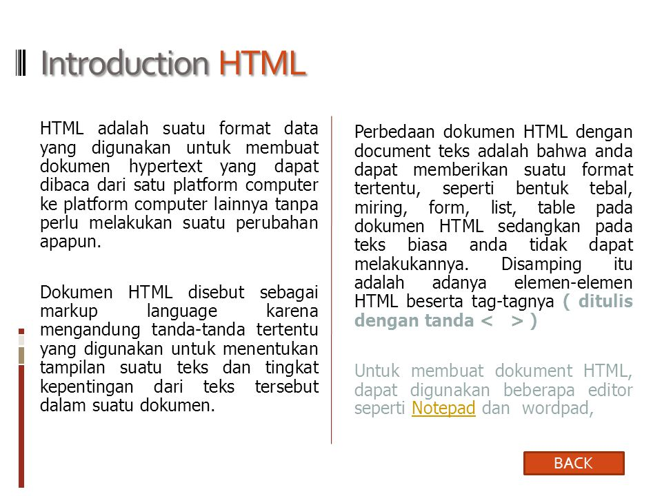 Introduction HTML