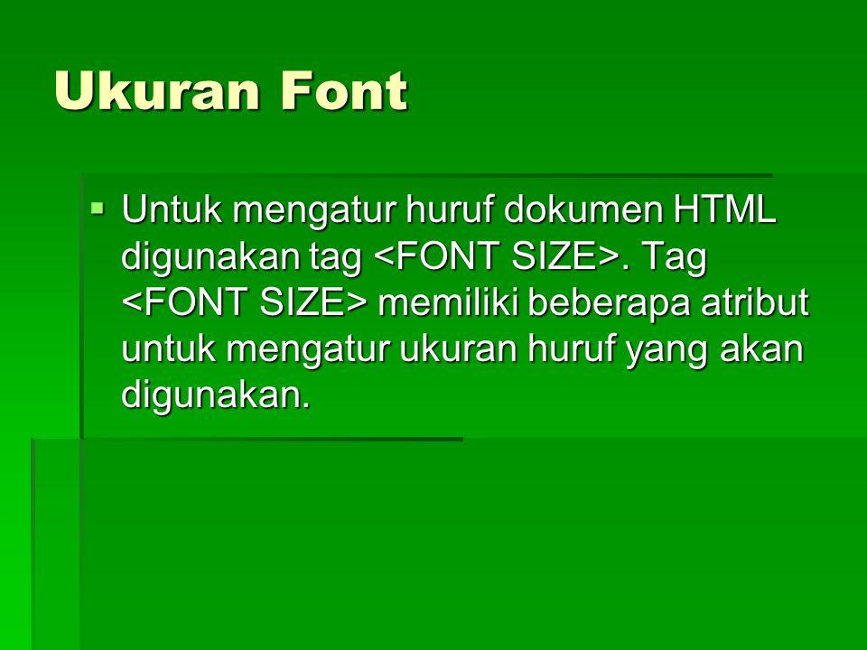 Ukuran Font