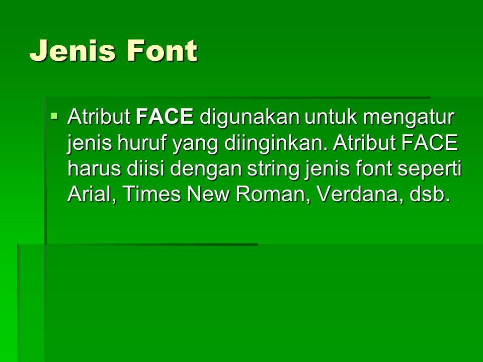 Jenis Font