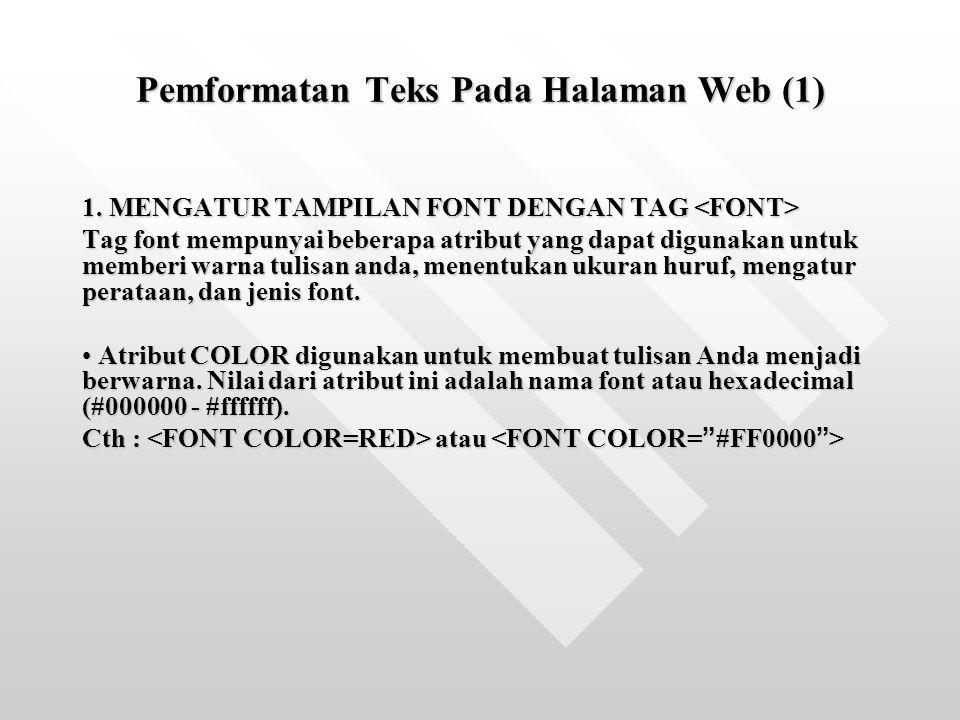 Pemformatan Teks Pada Halaman Web (1)