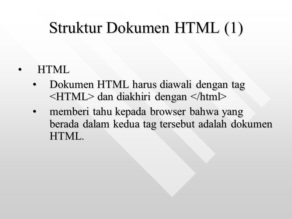 Struktur Dokumen HTML (1)