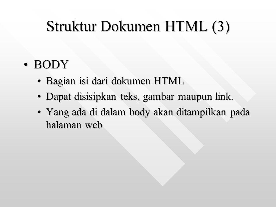 Struktur Dokumen HTML (3)