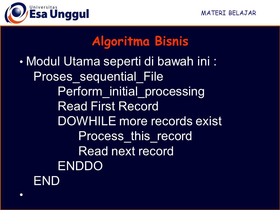 Proses_sequential_File Perform_initial_processing Read First Record