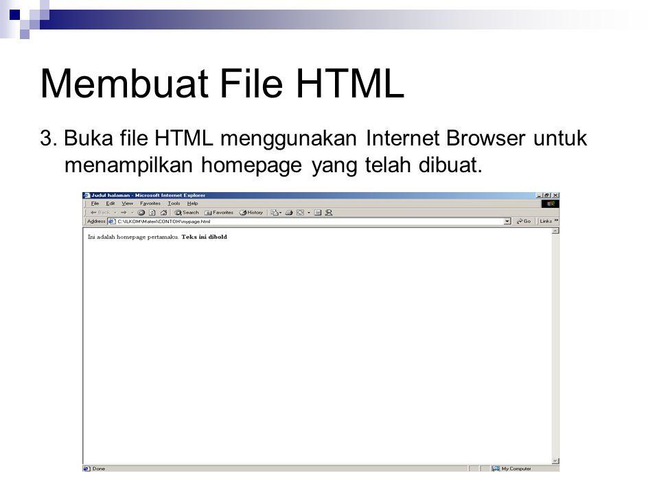 Membuat File HTML 3.