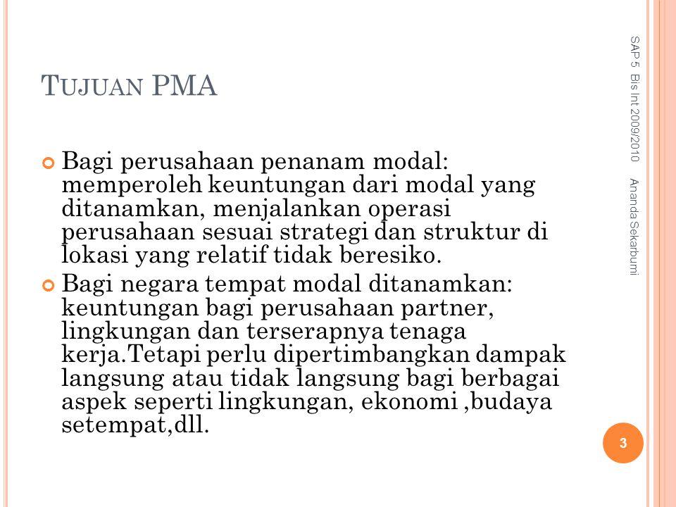 Tujuan PMA SAP 5 Bis Int 2009/2010.