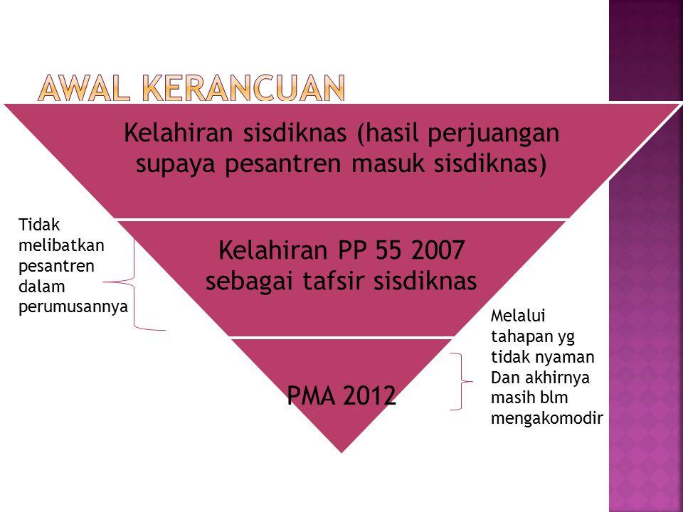Kelahiran PP 55 2007 sebagai tafsir sisdiknas