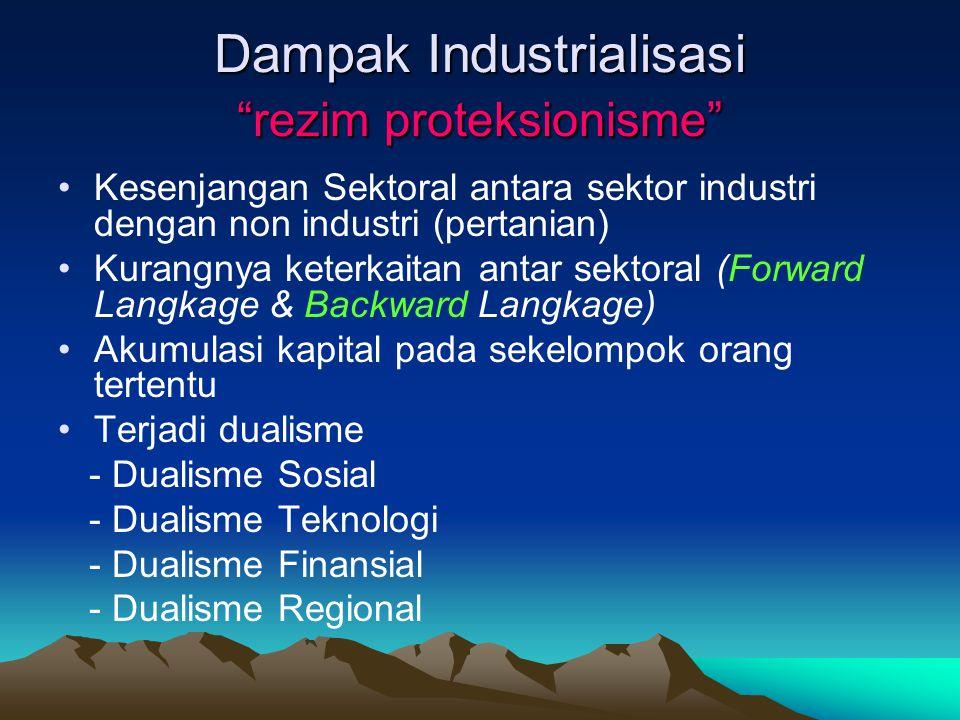 Dampak Industrialisasi rezim proteksionisme
