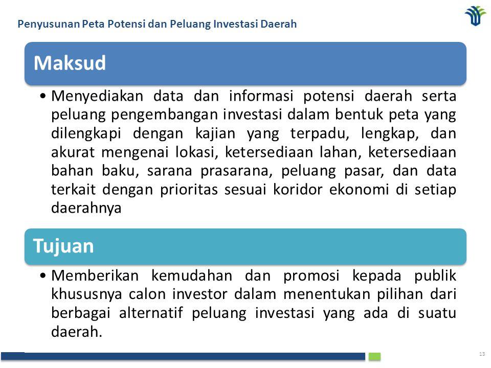Penyusunan Peta Potensi dan Peluang Investasi Daerah