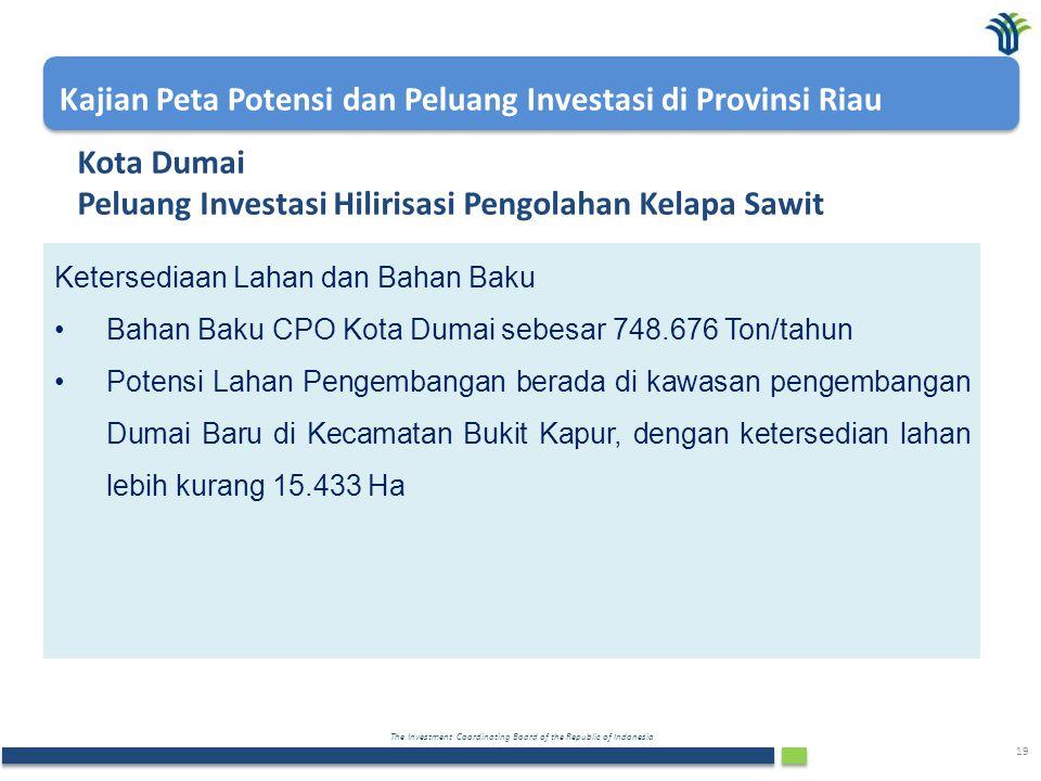 Kota Dumai Peluang Investasi Hilirisasi Pengolahan Kelapa Sawit