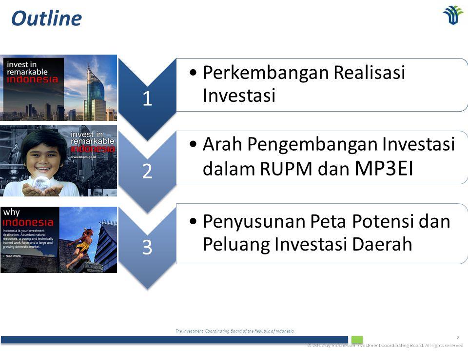 Outline 1 2 3 Perkembangan Realisasi Investasi