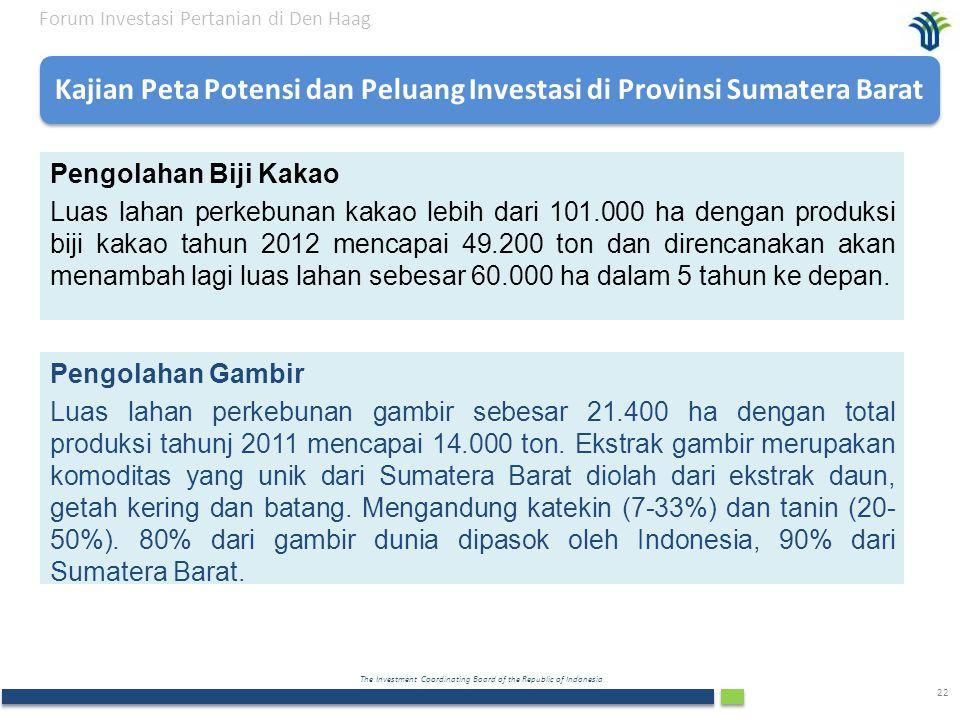 Kajian Peta Potensi dan Peluang Investasi di Provinsi Sumatera Barat