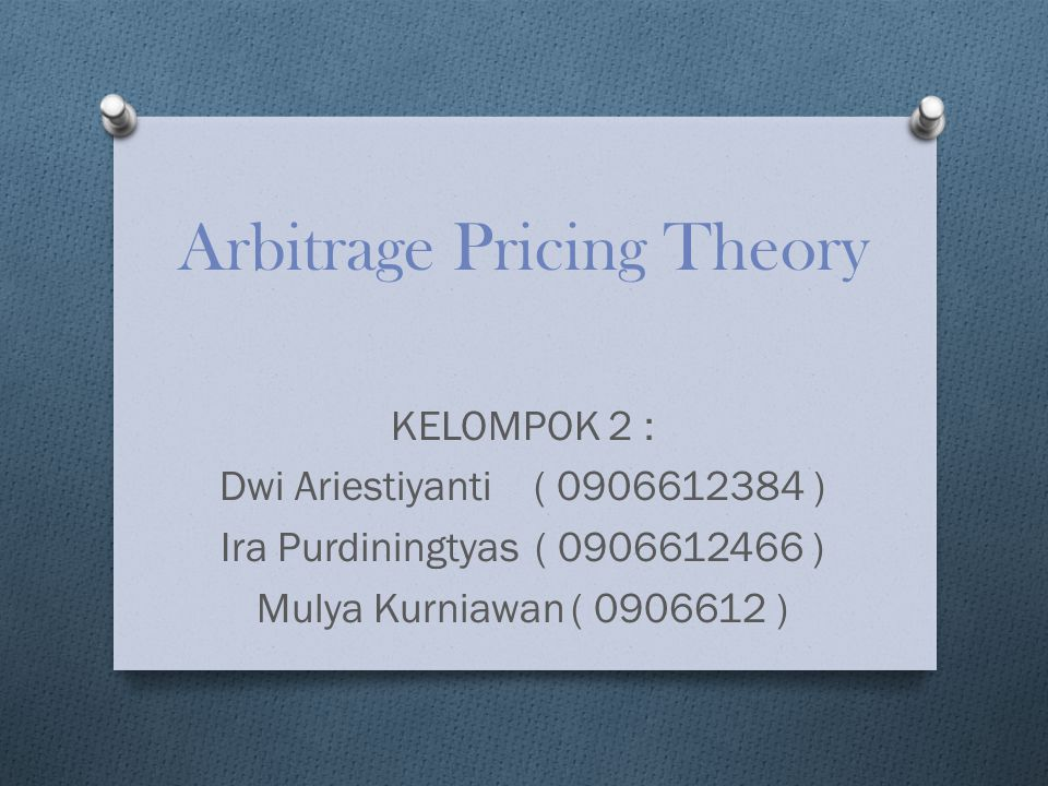 Pengertian Arbitrage