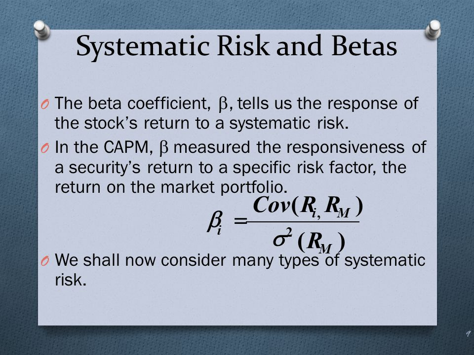 Systematic Risk and Betas