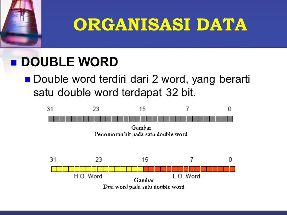 Penomoran bit pada satu double word Dua word pada satu double word