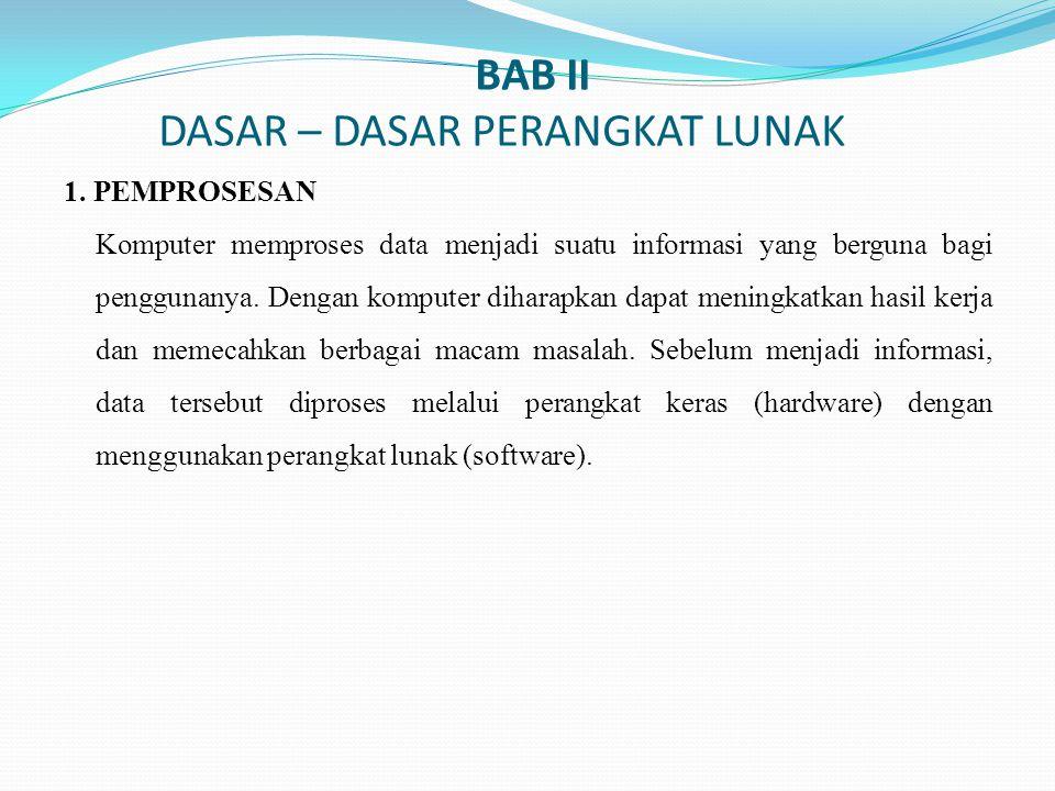 BAB II DASAR – DASAR PERANGKAT LUNAK