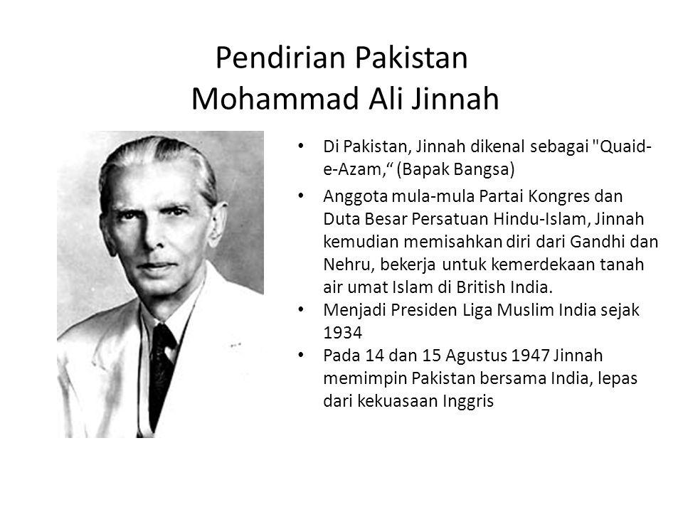 Pendirian Pakistan Mohammad Ali Jinnah