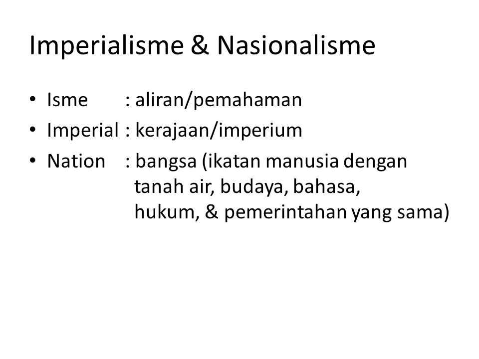 Imperialisme & Nasionalisme