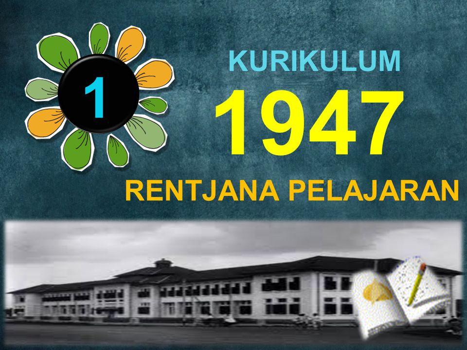 1947 1 KURIKULUM RENTJANA PELAJARAN