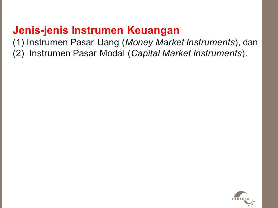 Jenis-jenis Instrumen Keuangan