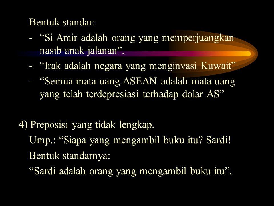 - Si Amir adalah orang yang memperjuangkan nasib anak jalanan .