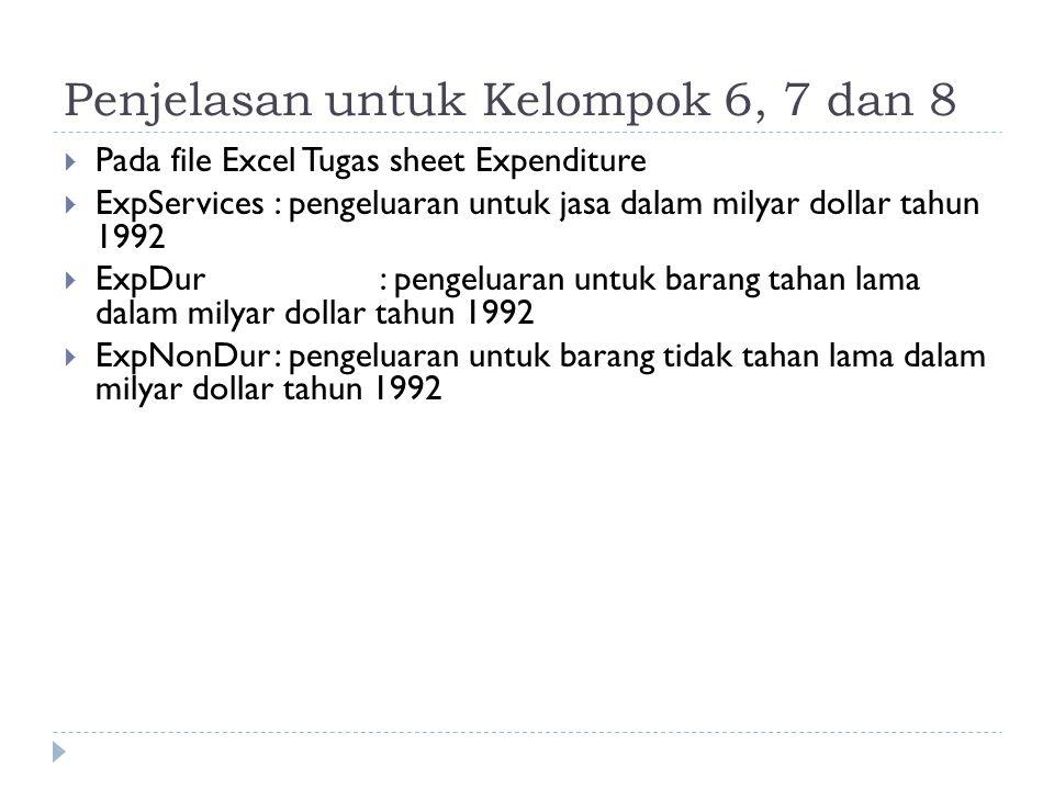 Penjelasan untuk Kelompok 6, 7 dan 8