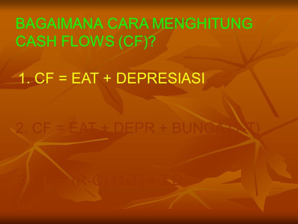 BAGAIMANA CARA MENGHITUNG CASH FLOWS (CF)