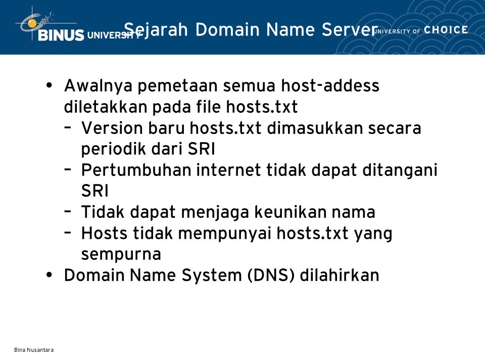 Sejarah Domain Name Server