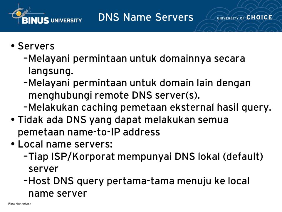 DNS Name Servers Servers