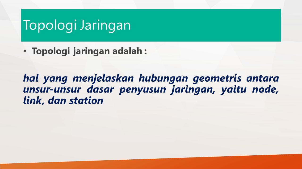 Topologi Jaringan Topologi jaringan adalah :