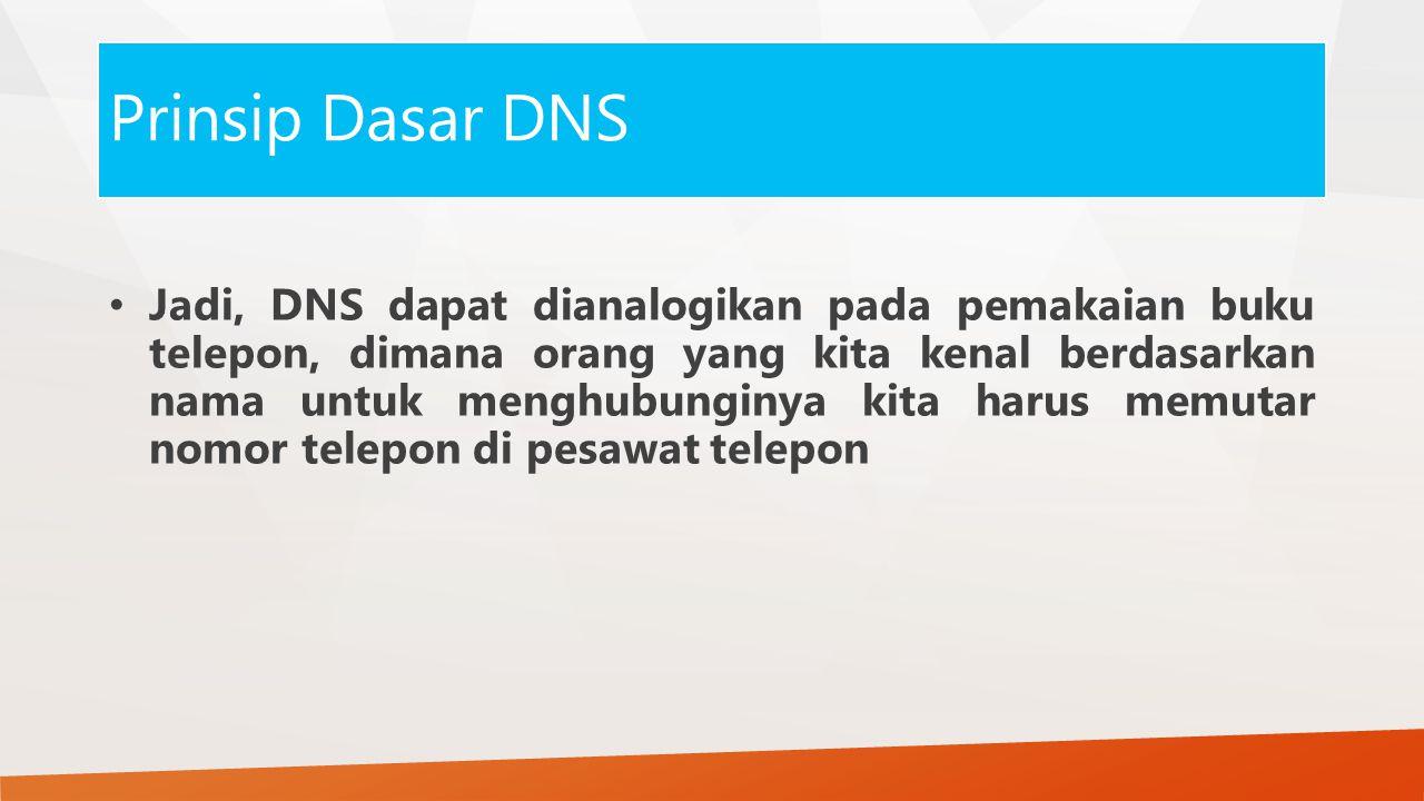 Prinsip Dasar DNS