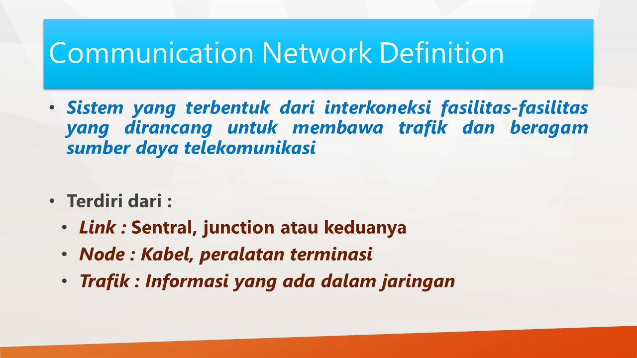 Communication Network Definition