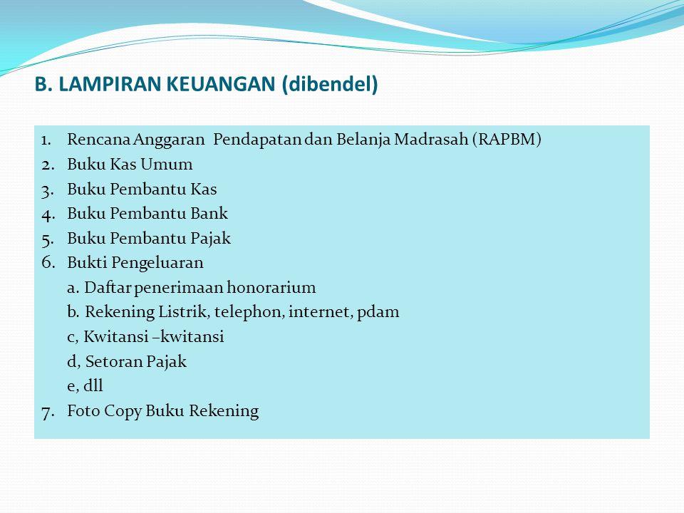 B. LAMPIRAN KEUANGAN (dibendel)