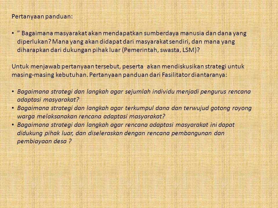 Pertanyaan panduan: