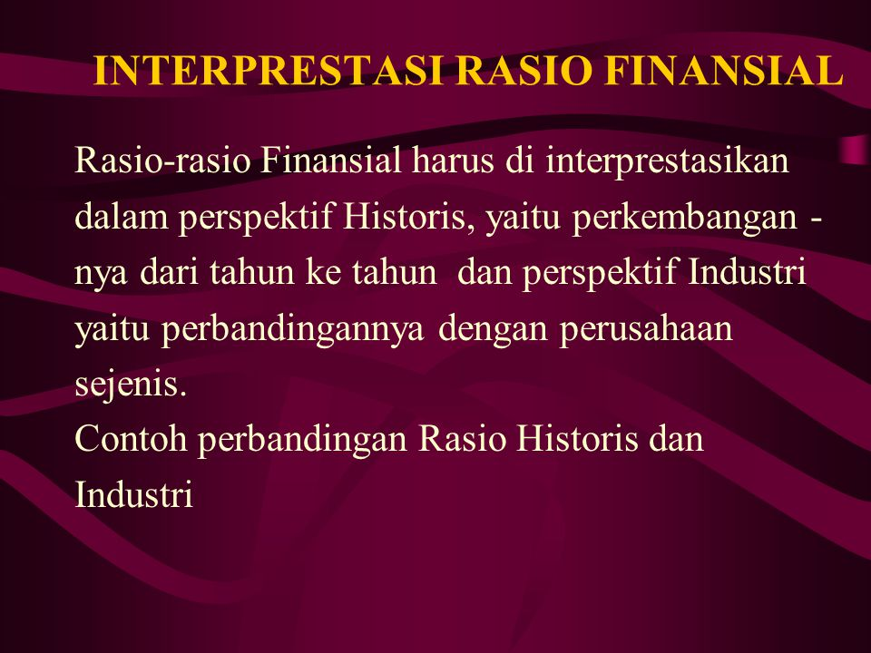 INTERPRESTASI RASIO FINANSIAL