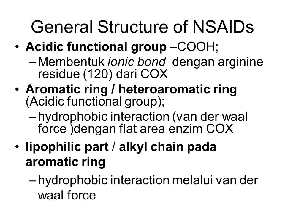 General Structure of NSAIDs