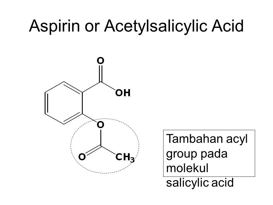 Aspirin or Acetylsalicylic Acid