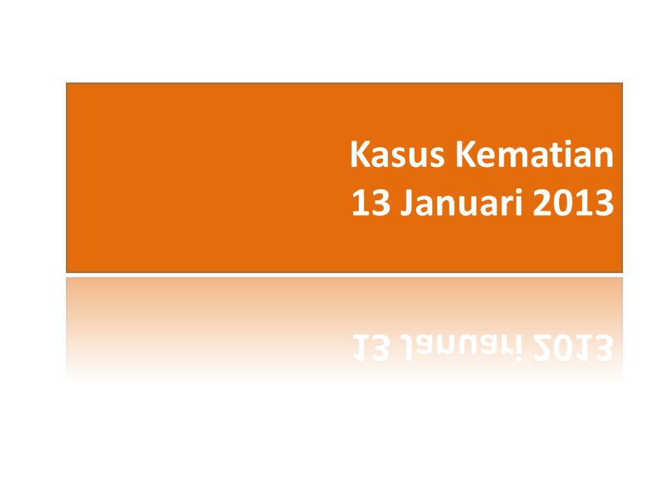 Kasus Kematian 13 Januari 2013