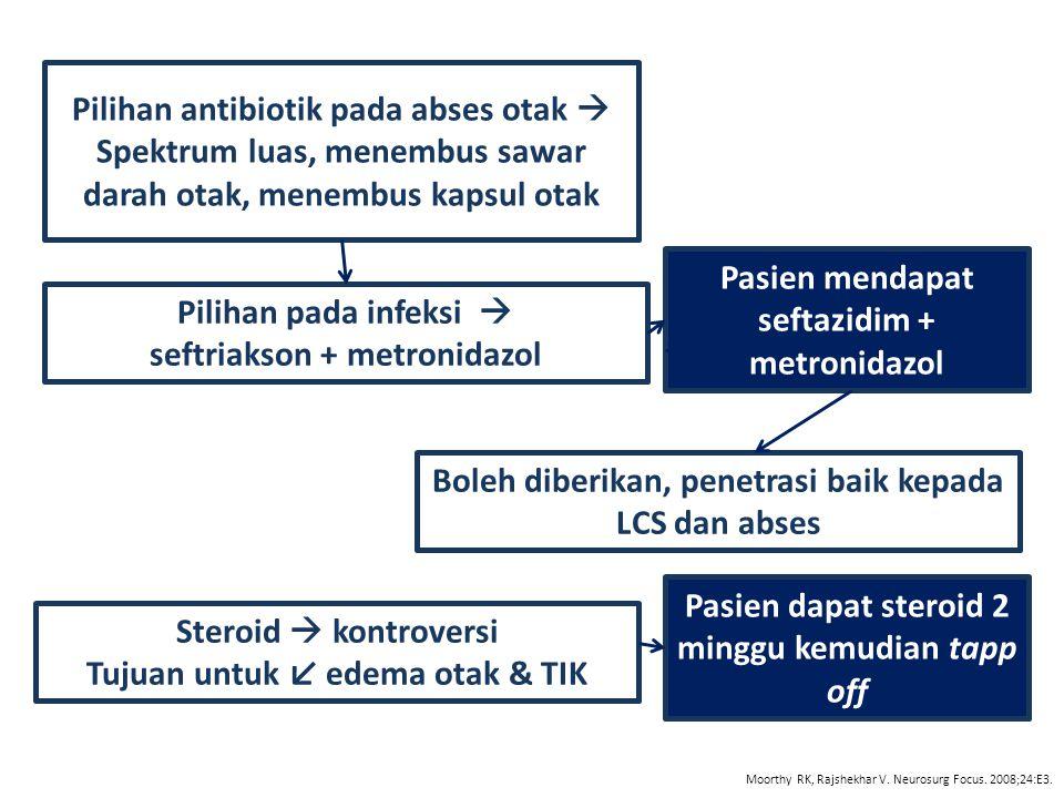 Pilihan antibiotik pada abses otak 