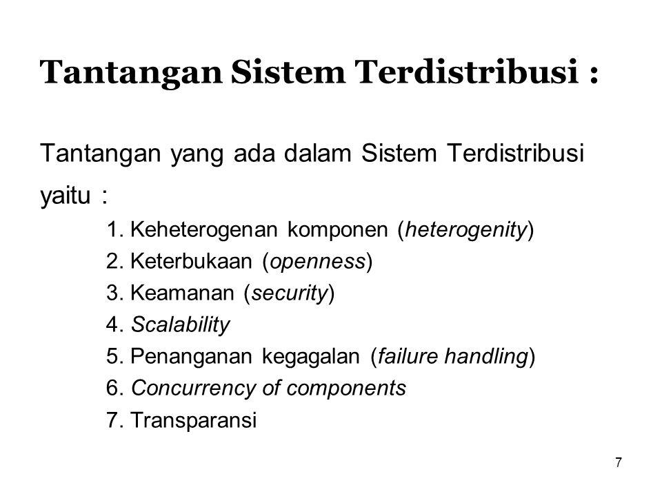 Tantangan Sistem Terdistribusi :