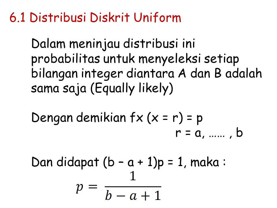 6.1 Distribusi Diskrit Uniform