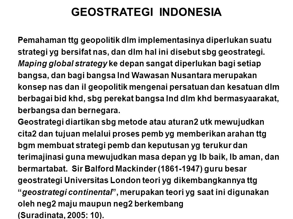 GEOSTRATEGI INDONESIA