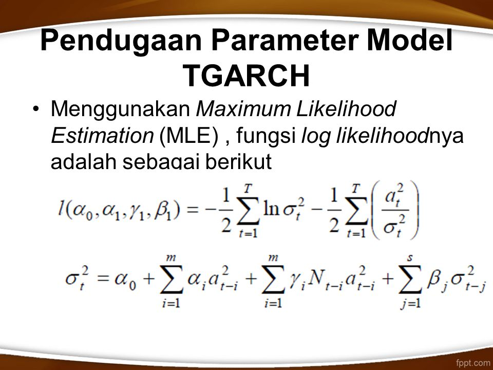 Pendugaan Parameter Model TGARCH