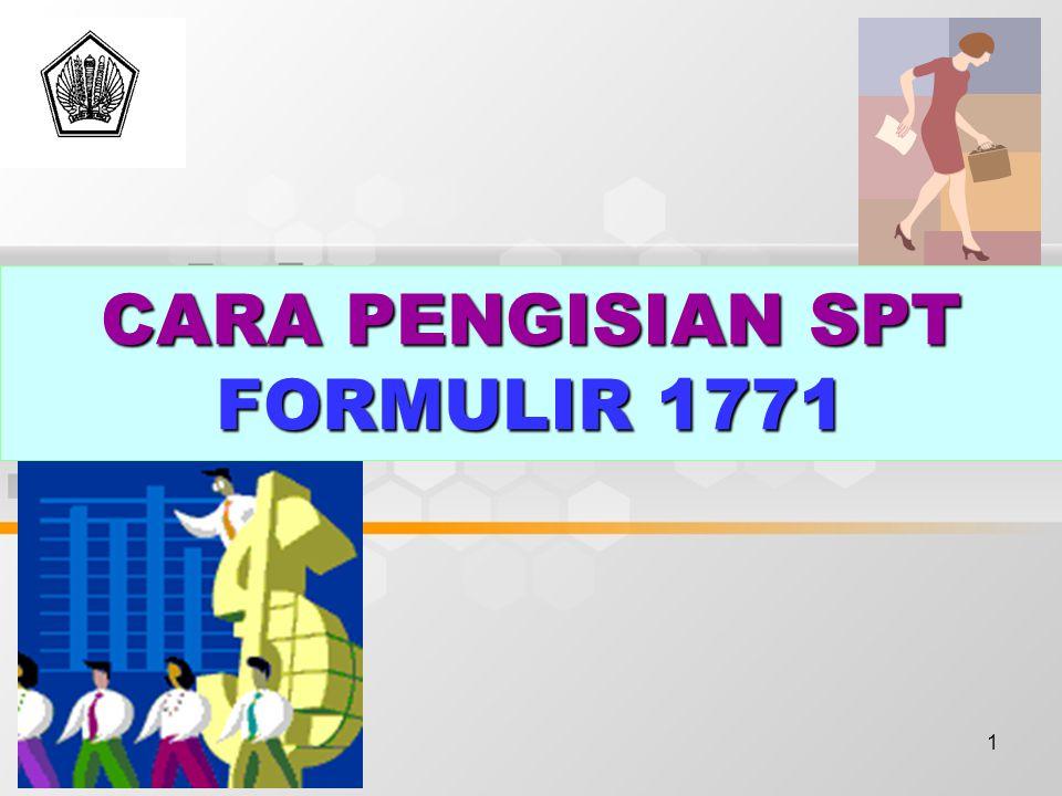 CARA PENGISIAN SPT FORMULIR 1771