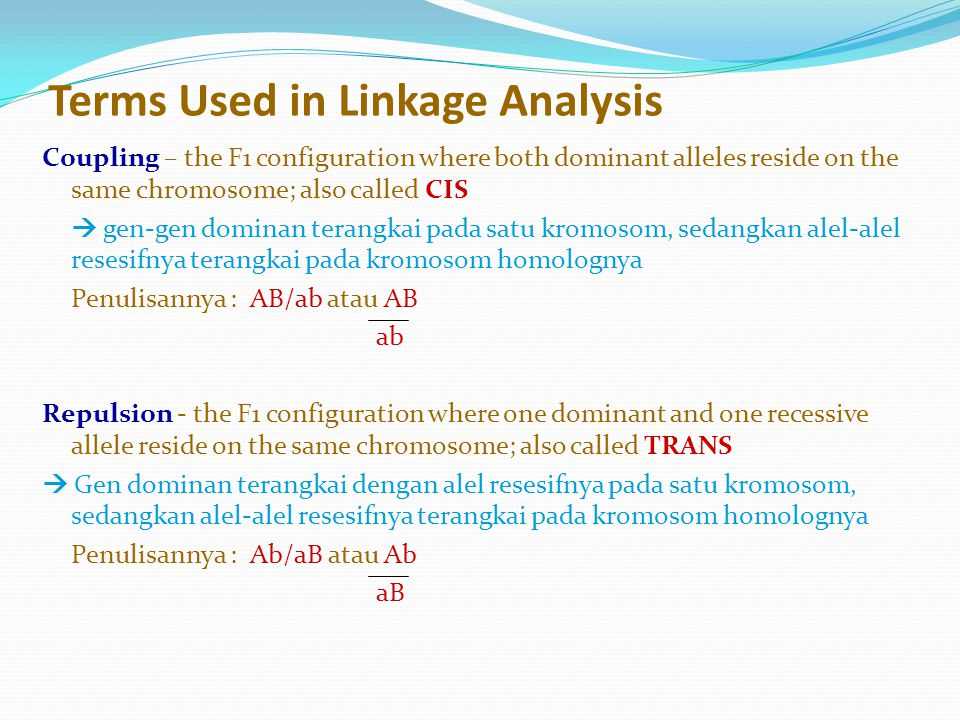 Terms Used in Linkage Analysis