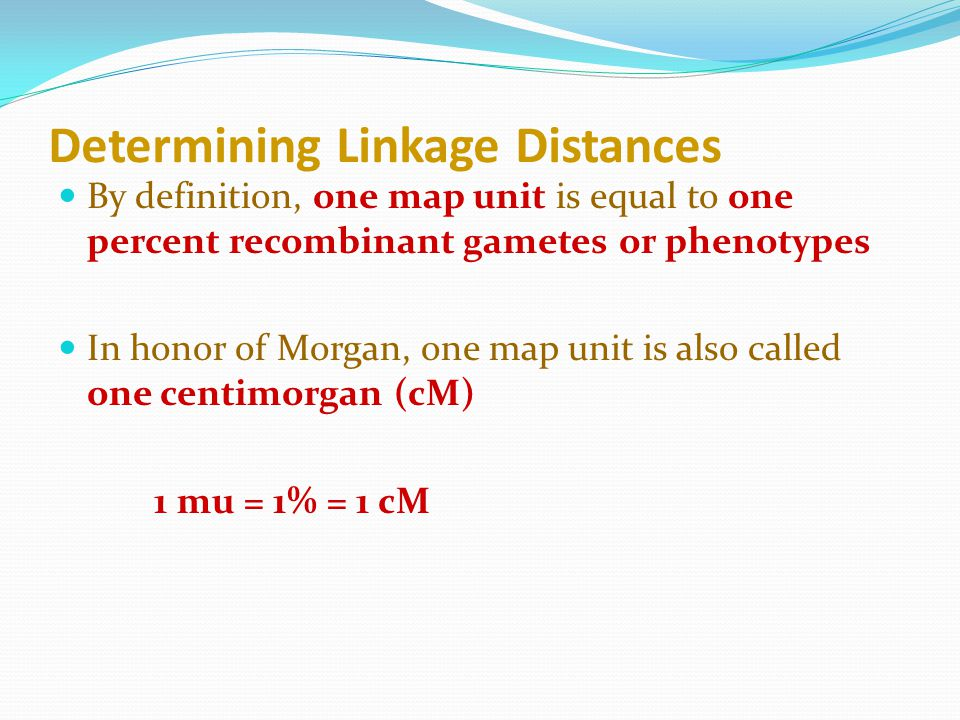 Determining Linkage Distances