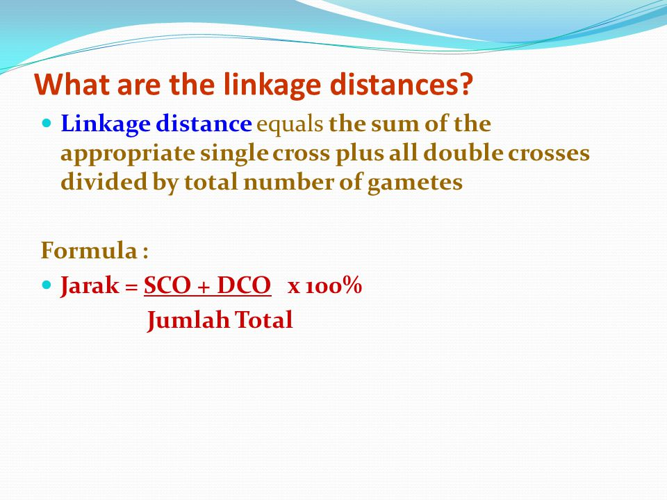 What are the linkage distances